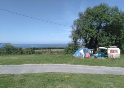 camping vue mer tente