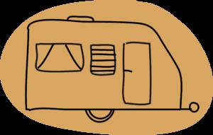 caravane camping pré de la Mer